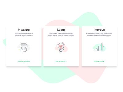 Startup Landing Page web ux ui responsive simple minimal icons clean page landing startup