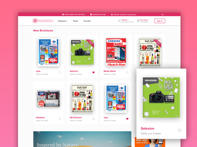 Pretty Brochure Browser responsive website brochure conversion flat minimal clean page landing