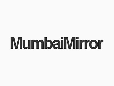 Mumbai Mirror Logotype Design Experiments 3 symbol logo india maharashtra design graphic opposite side two reflect mirror mumbai