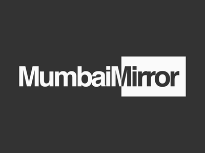 Mumbai Mirror Logotype Design Experiments 5 symbol logo mumbai mirror reflect two side opposite graphic design maharashtra india