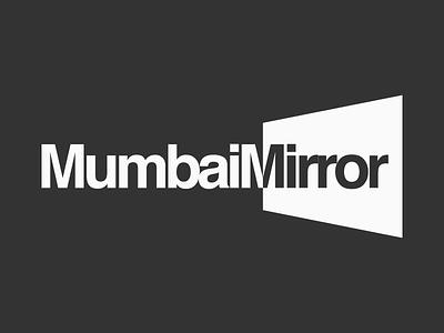 Mumbai Mirror Logotype Design Experiments 6 symbol logo india maharashtra design graphic opposite side two reflect mirror mumbai