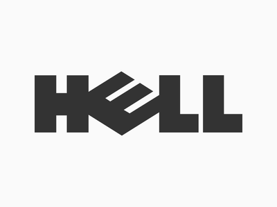 Hell - Typography Exploration by Mandar Apte fun humour visual symbol logo typography design graphic network computer dell hell