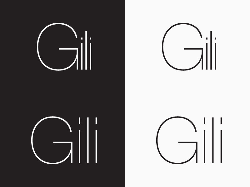 Gili jewellery logotype design by mandar apte