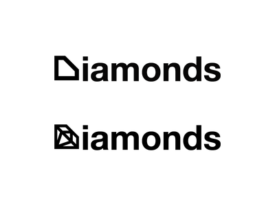 Diamonds 02 Logotype Designed by Mandar Apte typography logotype brand graphic design designer expensive dream jewellery symbol logo diamond