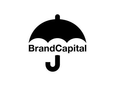 Brand Capital Logo & Symbol Designed by Mandar Apte network logotype typography design graphic symbol logo umbrella capital brand