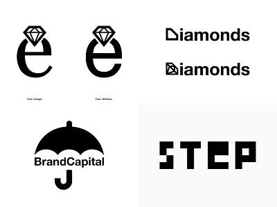 2018 step capital diamond logotype brand typography symbol logo graphic design