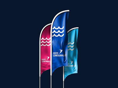 Estonian Kiteboarding Association – Flags rebranding branding brand kitesurf kitesurfing kiteboarding estonia flags flag