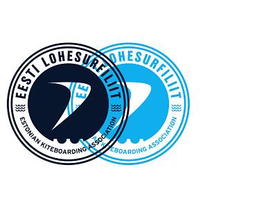 Estonian Kiteboarding Association – Secondary Logo / Badge kiteboarding kitesurf kitesurfing rebrand branding eesti estonia logo badge