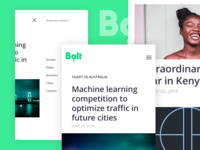 Bolt blog UI design