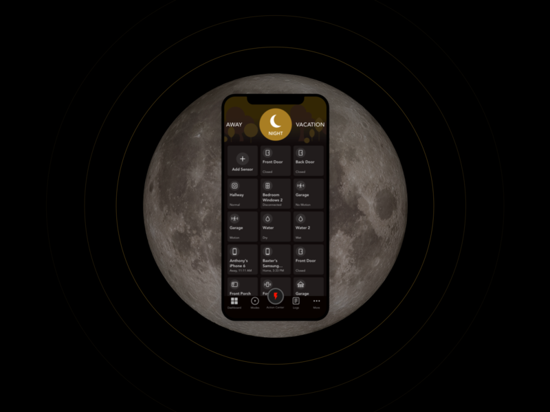 Home Security App   Night Mode smart home security app application illustration home app ux app ios ui
