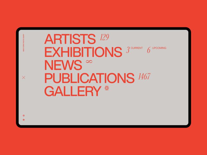 New York Photo Gallery | Expanded menu swiss design swiss style minimalism minimalist clean flat typography web ui