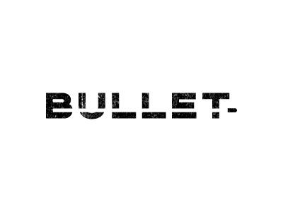 Bullet logo brand mark identity white black bullet idea fun