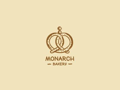 Monarch bakery logo logos brand mark idea vector illustration bakery monarch royal food