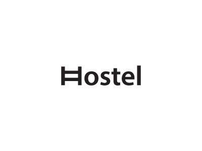 Hostel logos black flat hostel minimal idea mark brand logo