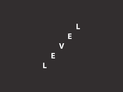level level brand branding mark fun idea black minimal flat logo