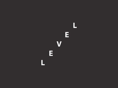 level level brand branding mark fun idea black minimal flat logo