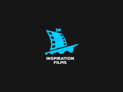 inspiration films dream movie kino cinema ship cloud films brand mark logos logo