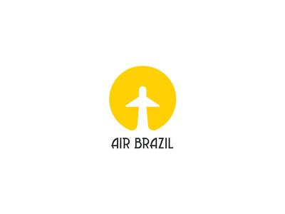 Air Brasil sun yellow brand mark logos airline air avia brazil idea logo