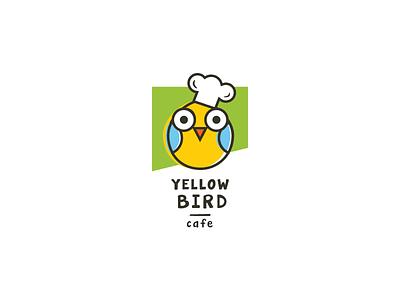 Yellow Bird cafe (sale logo) cook yellow cafe bird idea brand mark logos logo