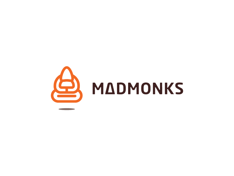MadMonks orange mad monks minimal idea brand logos logo