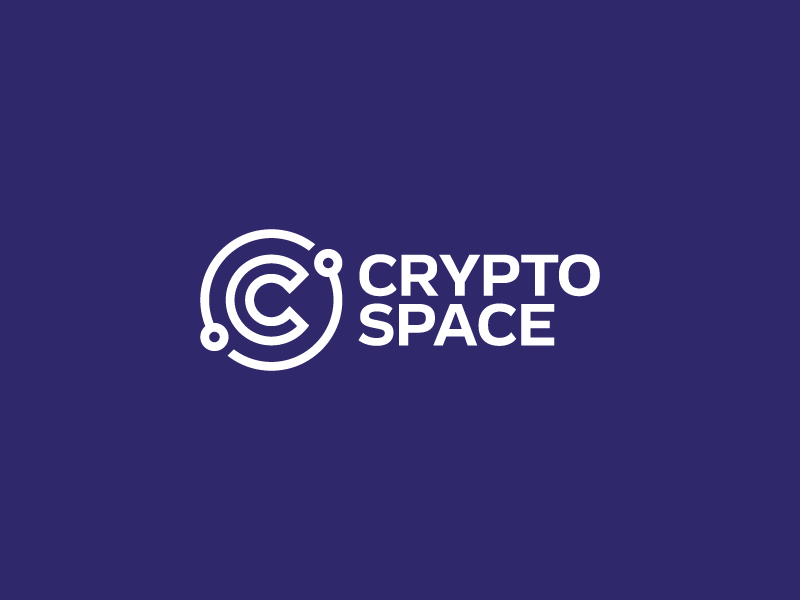 Crypto Space space blue bitcoin blockchain crypto idea brand mark logos logo