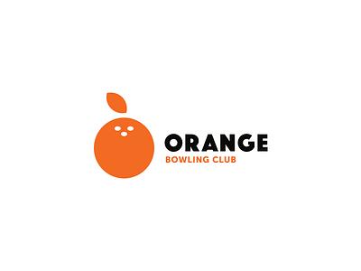 Orange logotype flat ball bowling orange minimal brand idea mar logos logo