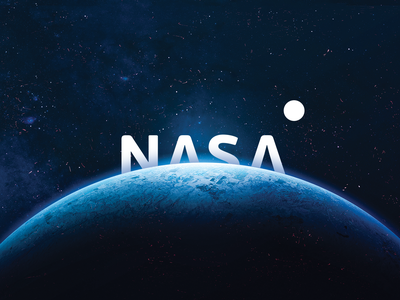 Nasa astronaut galaxy mark icon black vector illustration idea brand flat minimal space nasa logos logo