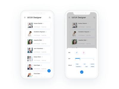 User list and screening