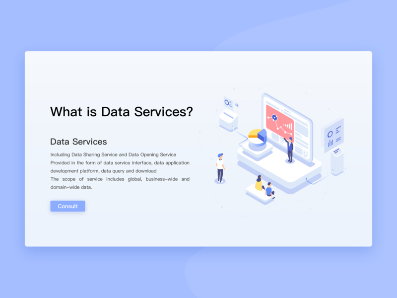 Data Services-1 web uiux illustration