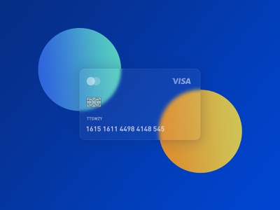Transparent card blue design illustration ai sketch app ui