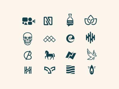 Logopack minimal branding vector logo
