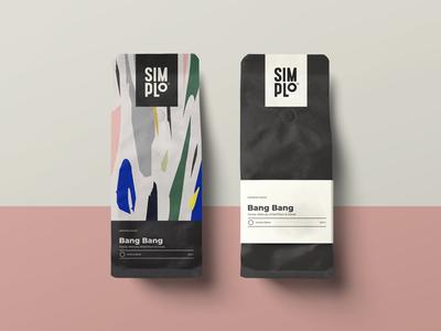 Simplo Coffee Bag Design bag abstract minimalism branding coffee packaging