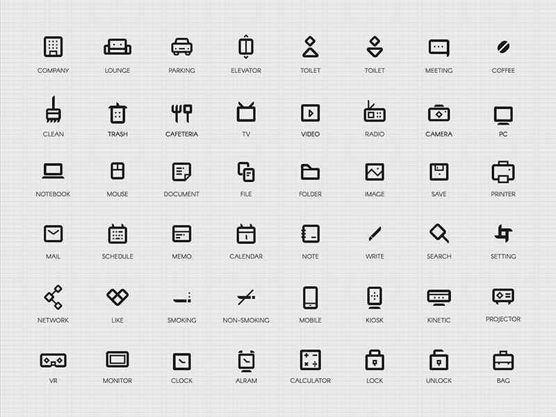 50 company Icon Set free ux ui icon company