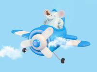 soolco travel airplane alchol beer elephant characterdesign character c4d illustration