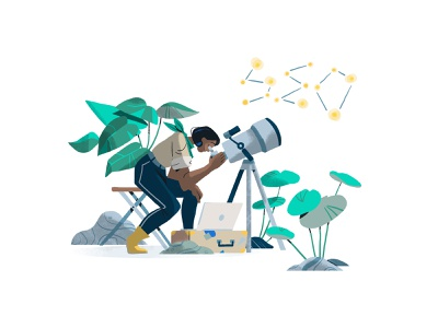 It's Written In the Stars spot ebook webdesign design branding peeps exploration graphic character illustration