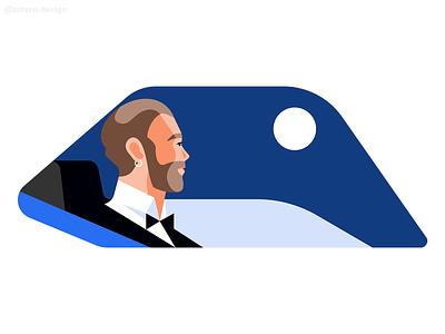 @Uber Rider identity ad campaign spot illos negativespace night exploration character uxuidesign peeps illustrator uxui vector branding illustration