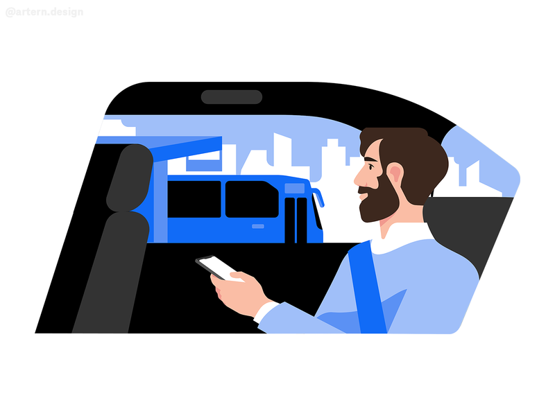 @Uber Transit editorial conceptual trasport book uber app man spot fun branding exploration vector design character illustration