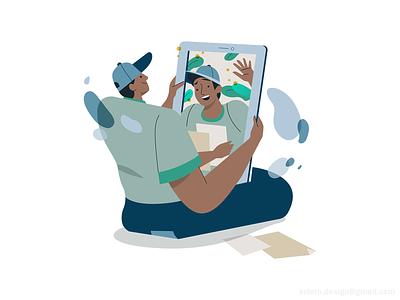BlackAd Spot illustrations spot branding flat exploration webdesign uxui whimsical cute funny character folks people woman design illustration