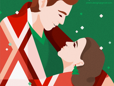 Be Merry_ freebie Wallpaper couple people love vector graphic monday freebie-friday xmas phone negativespace illustration characterdesign free givaway followers thank card christmas wallpaper freebie