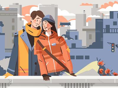 Got Plans? love peeps graphic design artwork inlove valentine flower landscape romance couple illustration characterdeisgn