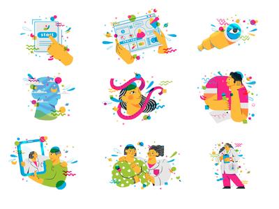 Spot Illustrations Sheet