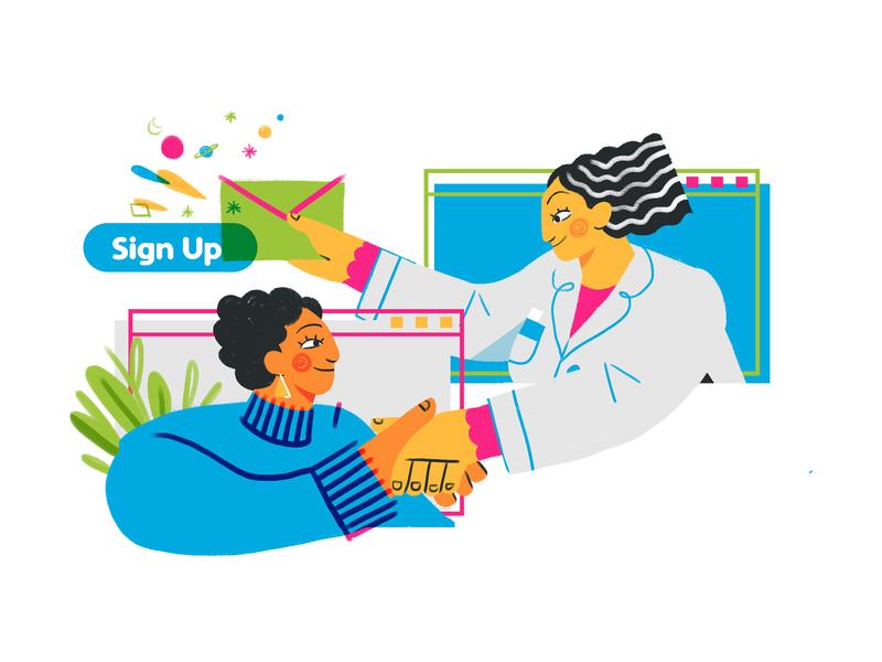 Signin' Up illustrator people folks uxui design exploration branding webdesign spot doodle character design sketch illustration