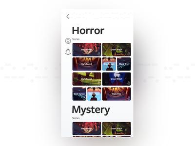 Minimal mobile app design for e-books