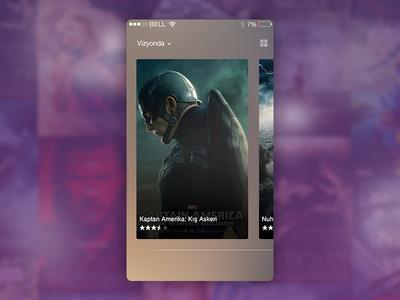Movie Mobile App UI | Daily sketch