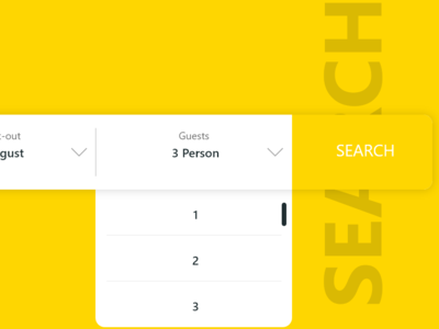 Booking website search bar