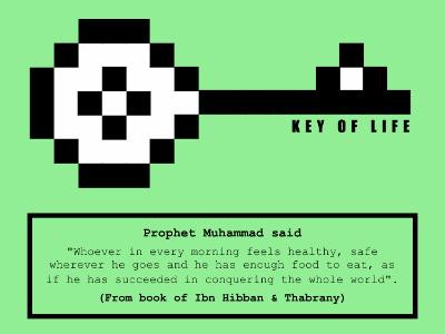Key Of Life pixels 8bit green key dawah