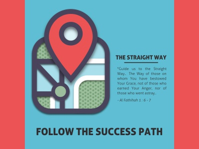The Straight Way dawah red map blue