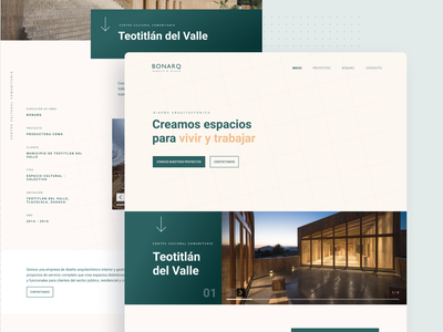 Architecture Bonarq Landing Page architectura interior home studio landing page website ui ux clean design real state property architect home page design