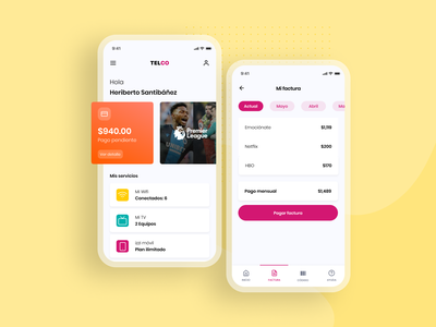 App telco sketch design graphic design card mobile telco mobile apps yellow product