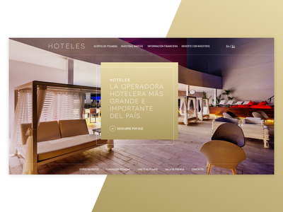 Hotel UI Stage Concept design header home principal stage ui hotel web